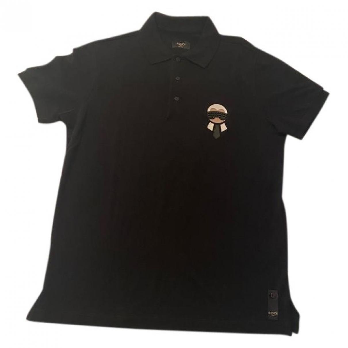 Fendi - Polos   pour homme en coton - noir
