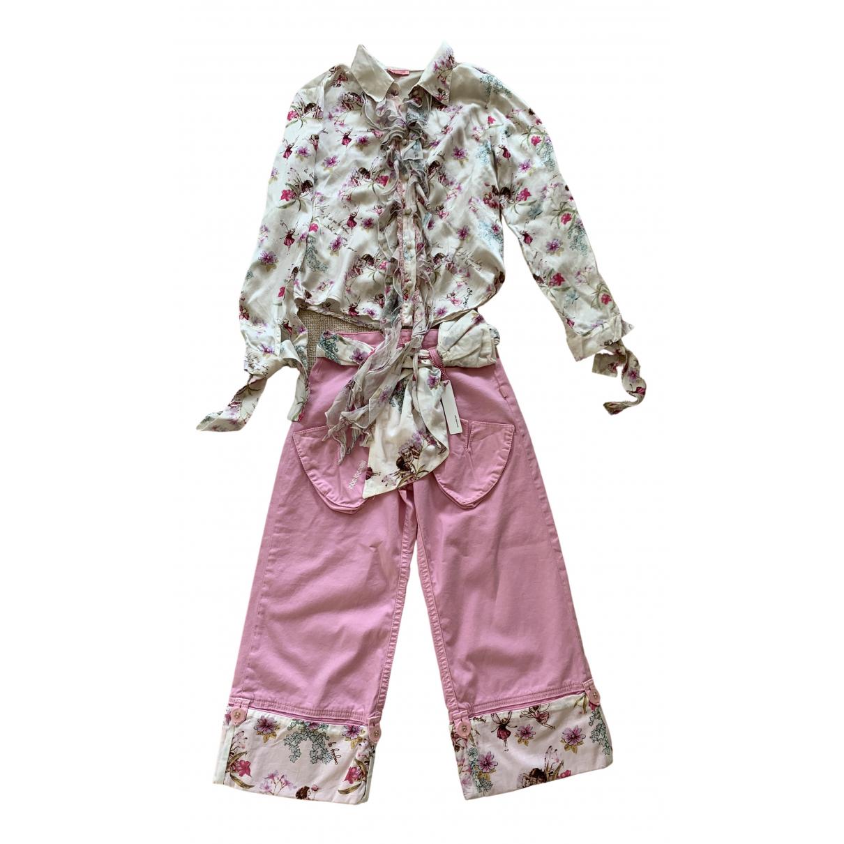 Roberto Cavalli - Les ensembles   pour enfant en coton - rose