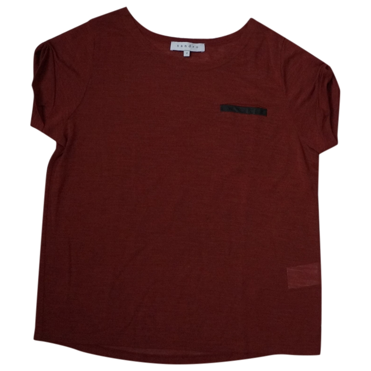 Sandro - Top   pour femme - rouge