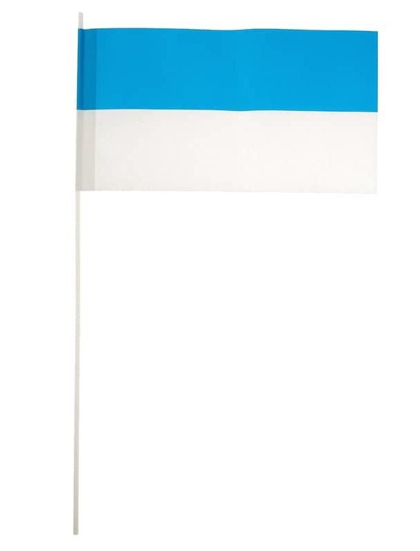 Papierfaehnchen blau/weiss 24x12cm