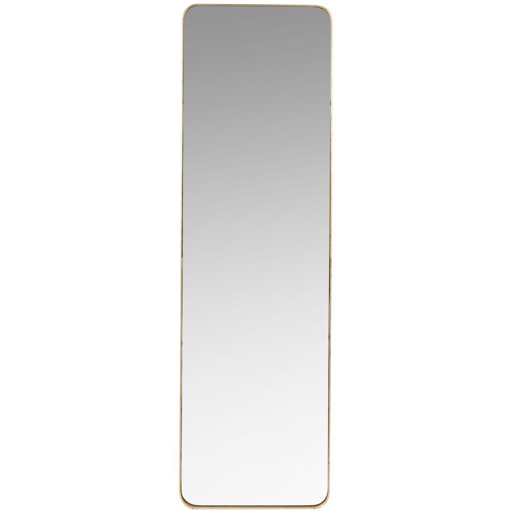 Spiegel mit mattgoldenem Metallrahmen 39x129