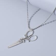 Halskette mit Schere Anhaenger