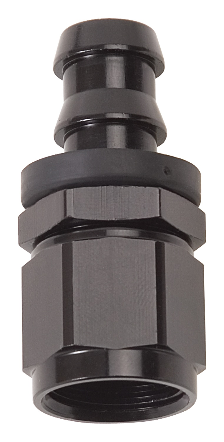 Russell HOSE END TWIST LOK STRAIGHT-8 BLK ANODIZED
