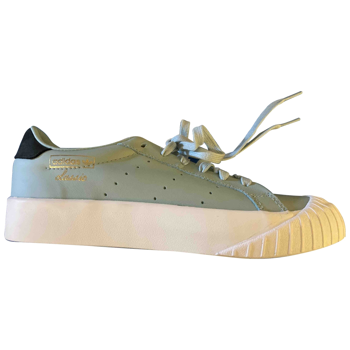 Adidas - Baskets   pour femme en cuir - vert