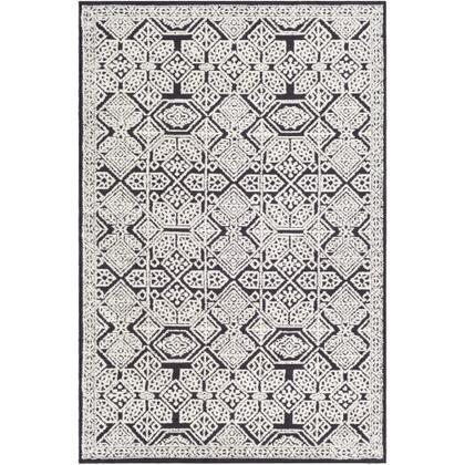 Padma PAM-2302 9' x 12' Rectangle Global Rug in Charcoal