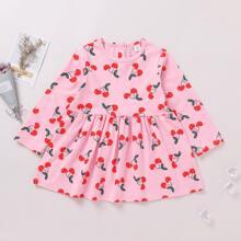 Kleid mit Kirsche Muster