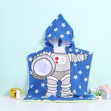 1 Stueck Kinder Bademantel mit zufaelligem Raumfahrer Muster