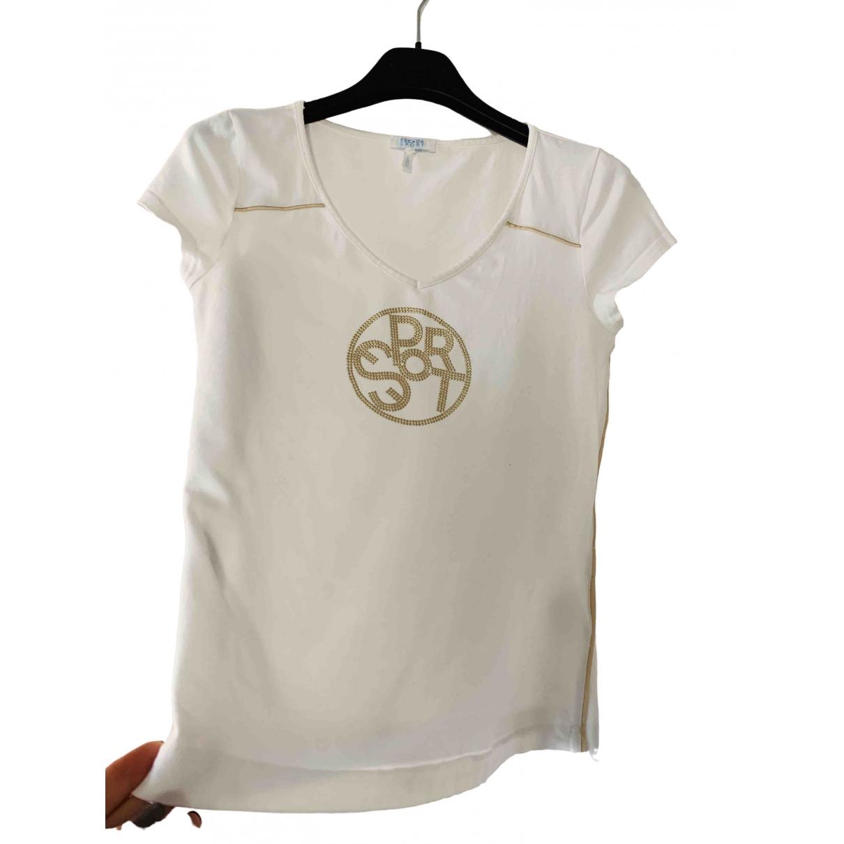Escada - Top   pour femme en coton - blanc