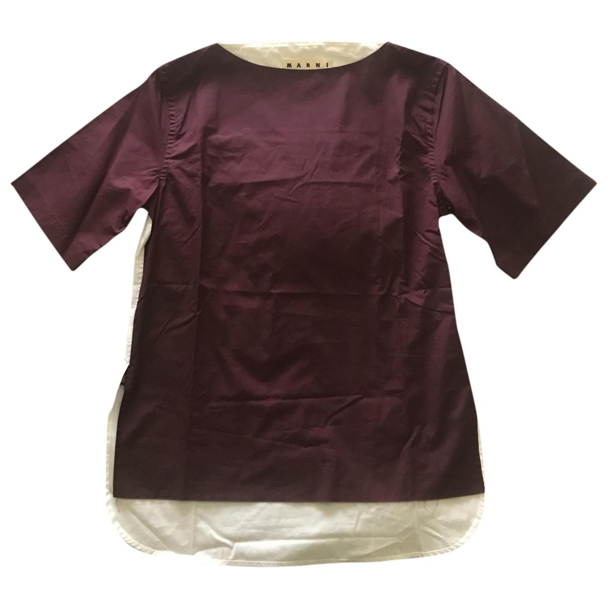 Marni \N Burgundy Cotton T-shirts for Men S International