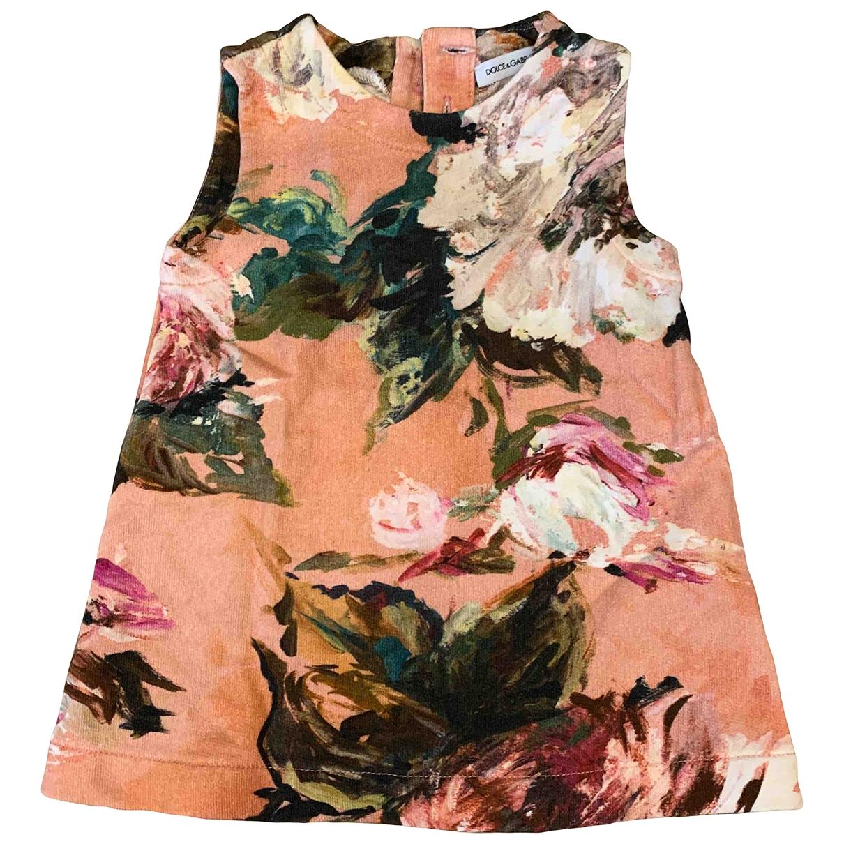 Dolce & Gabbana - Robe    pour enfant en coton - multicolore