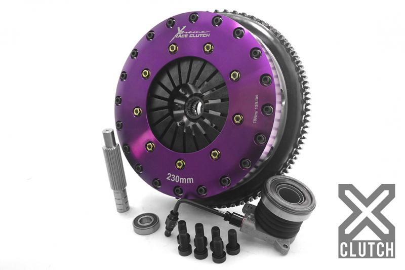 XClutch XKHD23630-2P Clutch Kit with Chromoly Flywheel + HRB 9-Inch and Twin Carbon Blade Clutch Discs Hyundai Genesis Coupe 2010-2012 2.0L 4-Cylinder