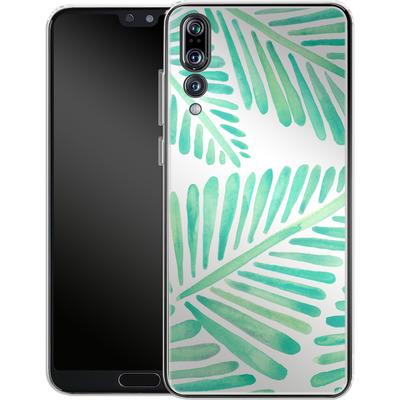 Huawei P20 Pro Silikon Handyhuelle - Banana Leaves Seafoam von Cat Coquillette