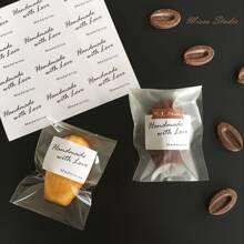 100 piezas bolsa de paquete de galleta