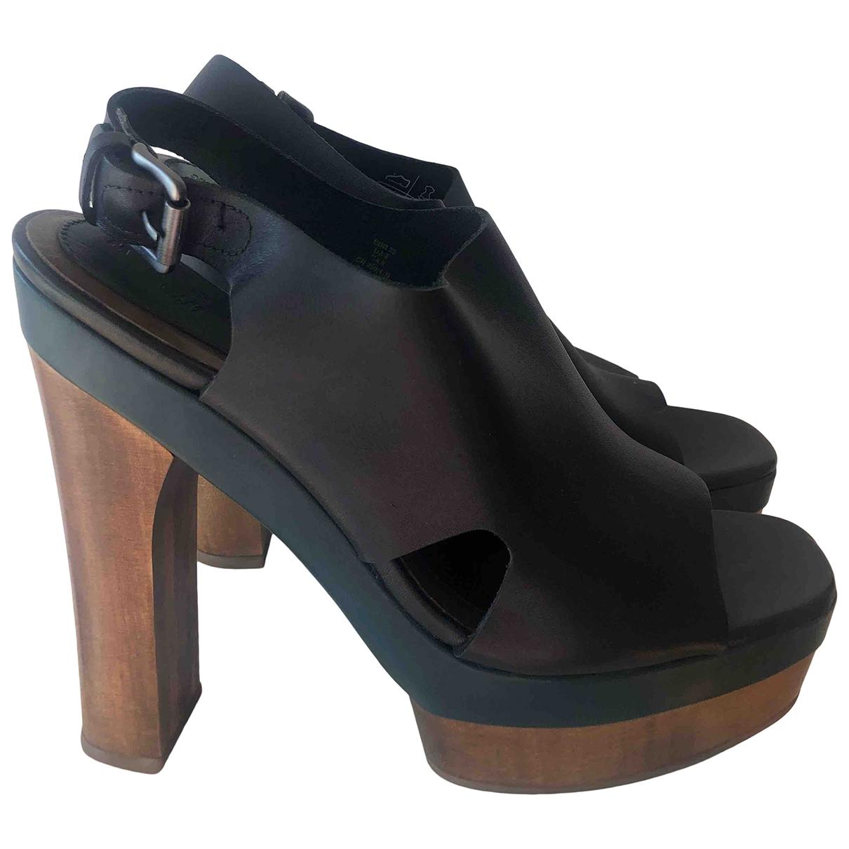 Marni For H&m - Sandales   pour femme en cuir - noir