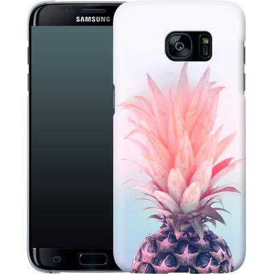 Samsung Galaxy S7 Edge Smartphone Huelle - Pastel Pineapple von Emanuela Carratoni