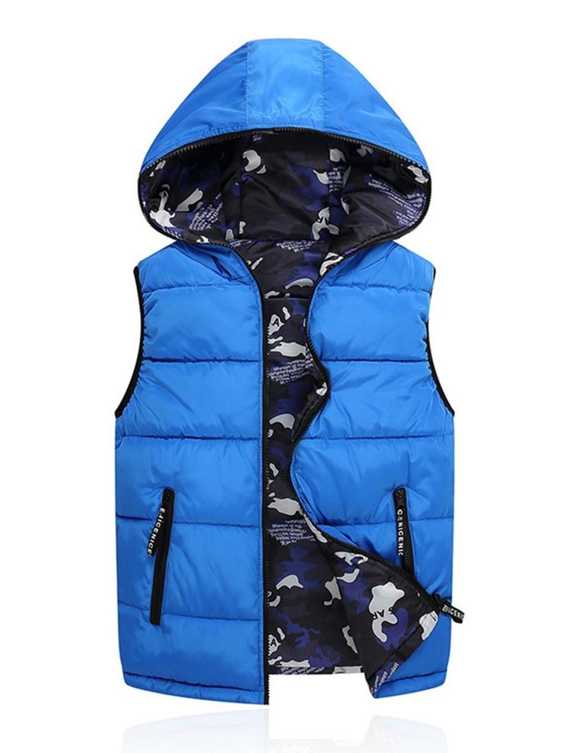 Ericdress Camouflage Zipper Hooded Korean Winter Men's Waistcoat