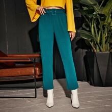 Pantalones Cinta Liso Elegante