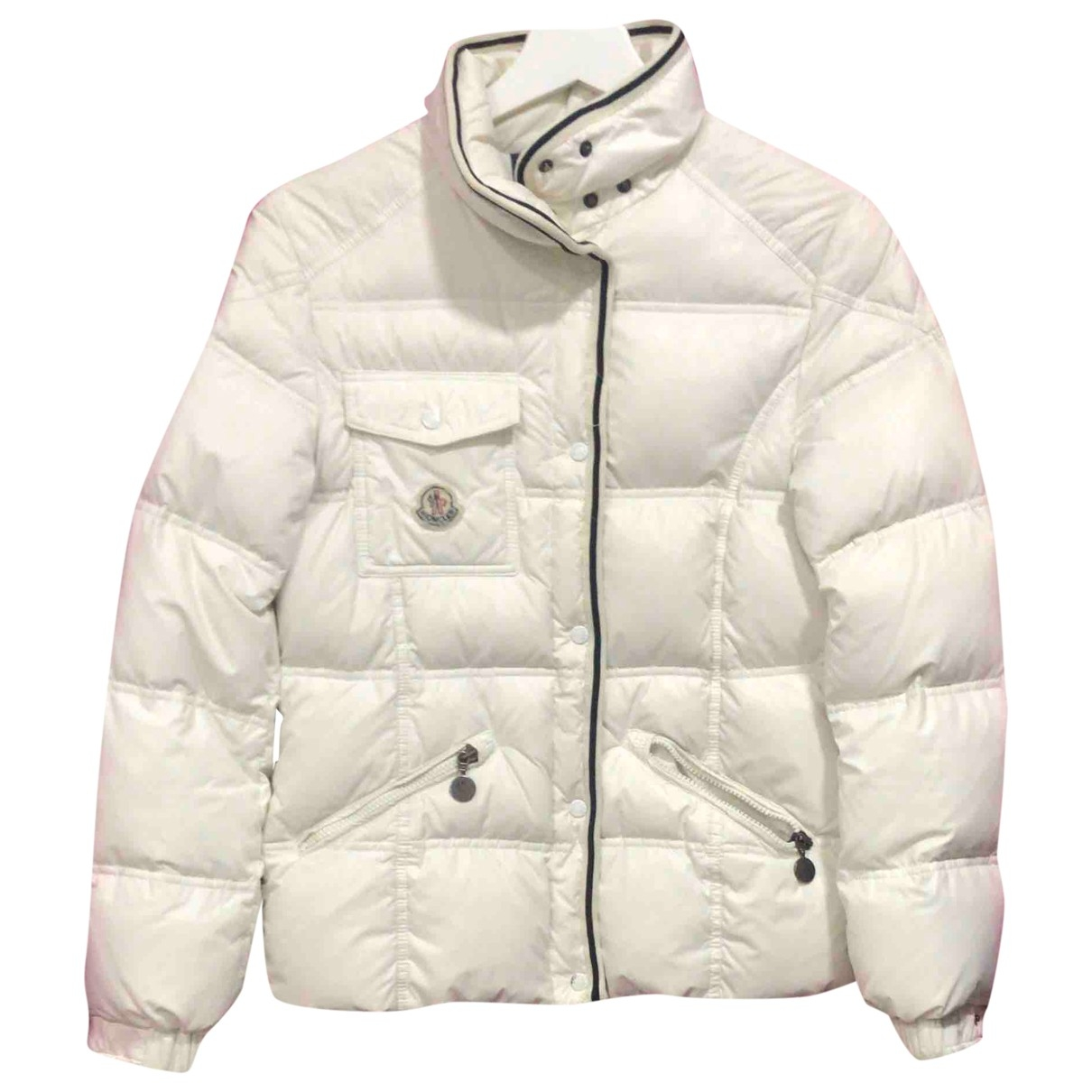 Moncler Classic Jacke, Maentel in  Weiss Polyester