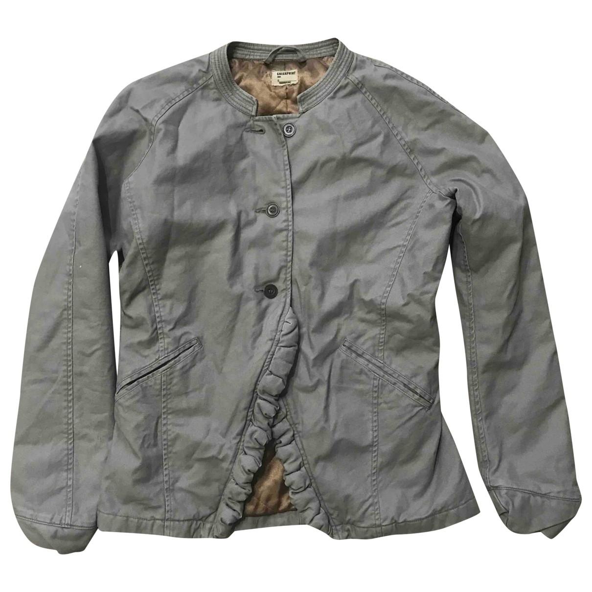 Non Signé / Unsigned \N Beige Cotton jacket for Women 42 IT