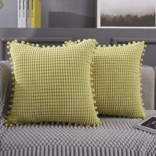 1pc Pom Pom Cushion Cover Without Filler