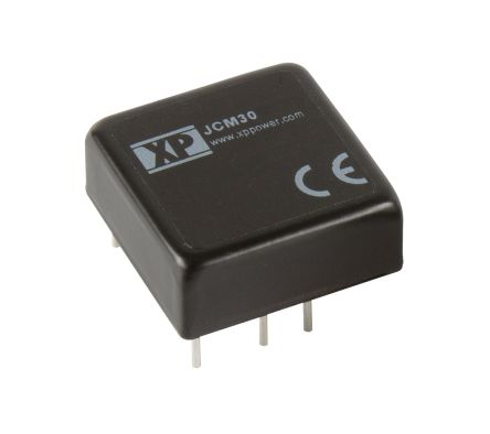 XP Power JCM30 30W Isolated DC-DC Converter Through Hole, Voltage in 36 → 75 V dc, Voltage out 15V dc