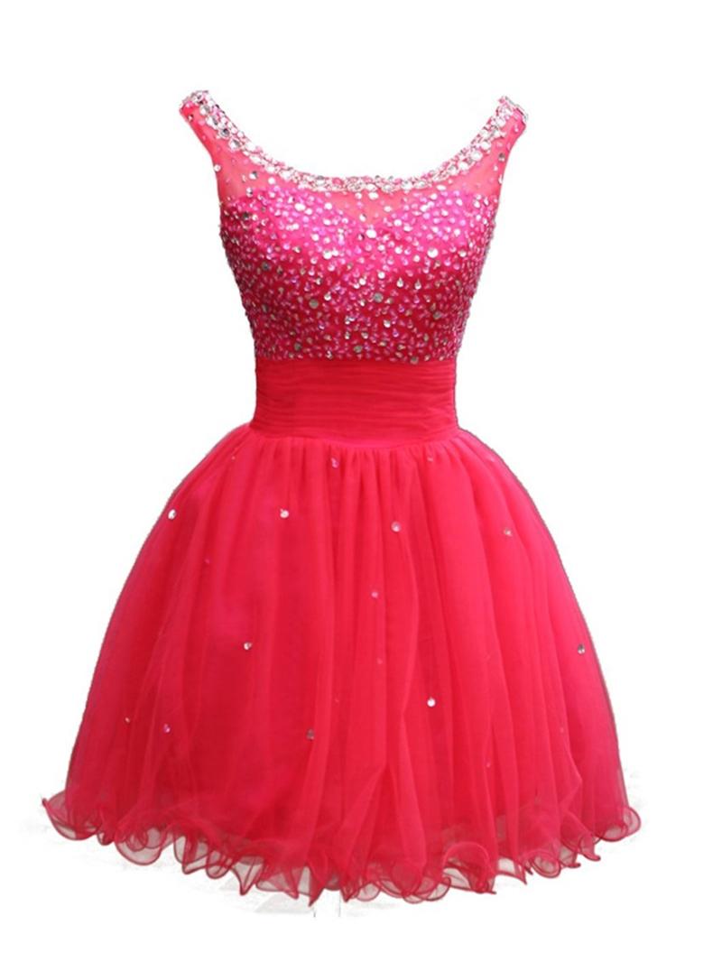 Ericdress Scoop A-Line Beaded Sequins Homecoming Dress