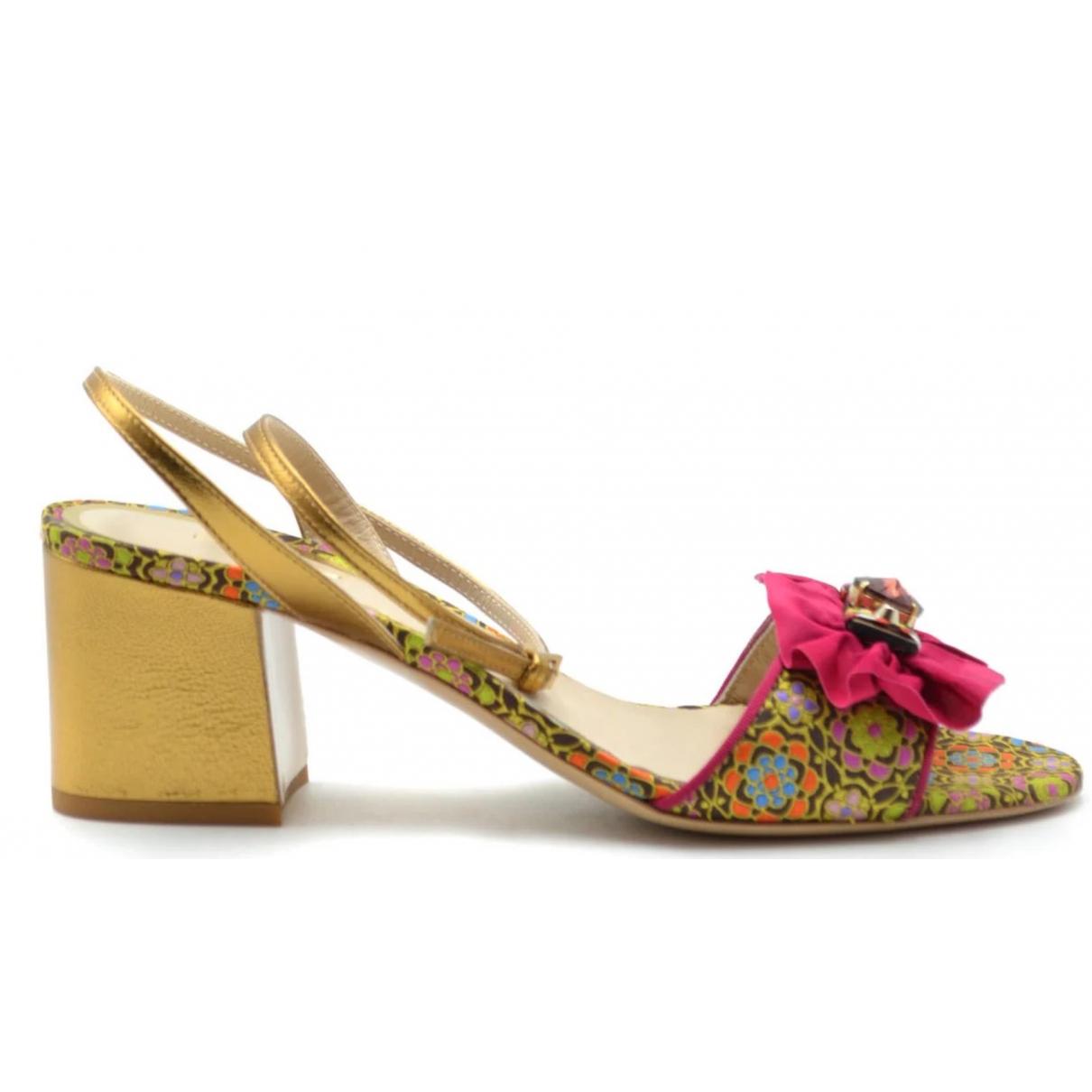 Etro - Sandales   pour femme en cuir - multicolore
