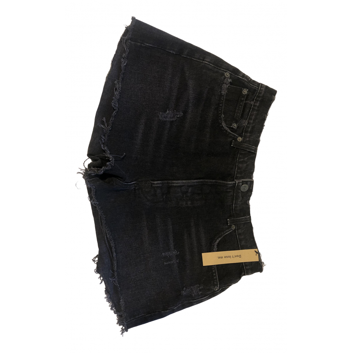 Reformation \N Black Denim - Jeans Shorts for Women 14 UK