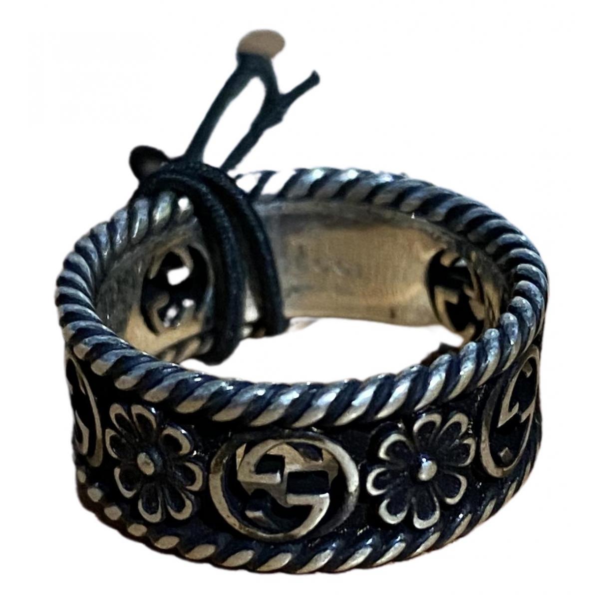 Gucci \N Ring in  Grau Silber