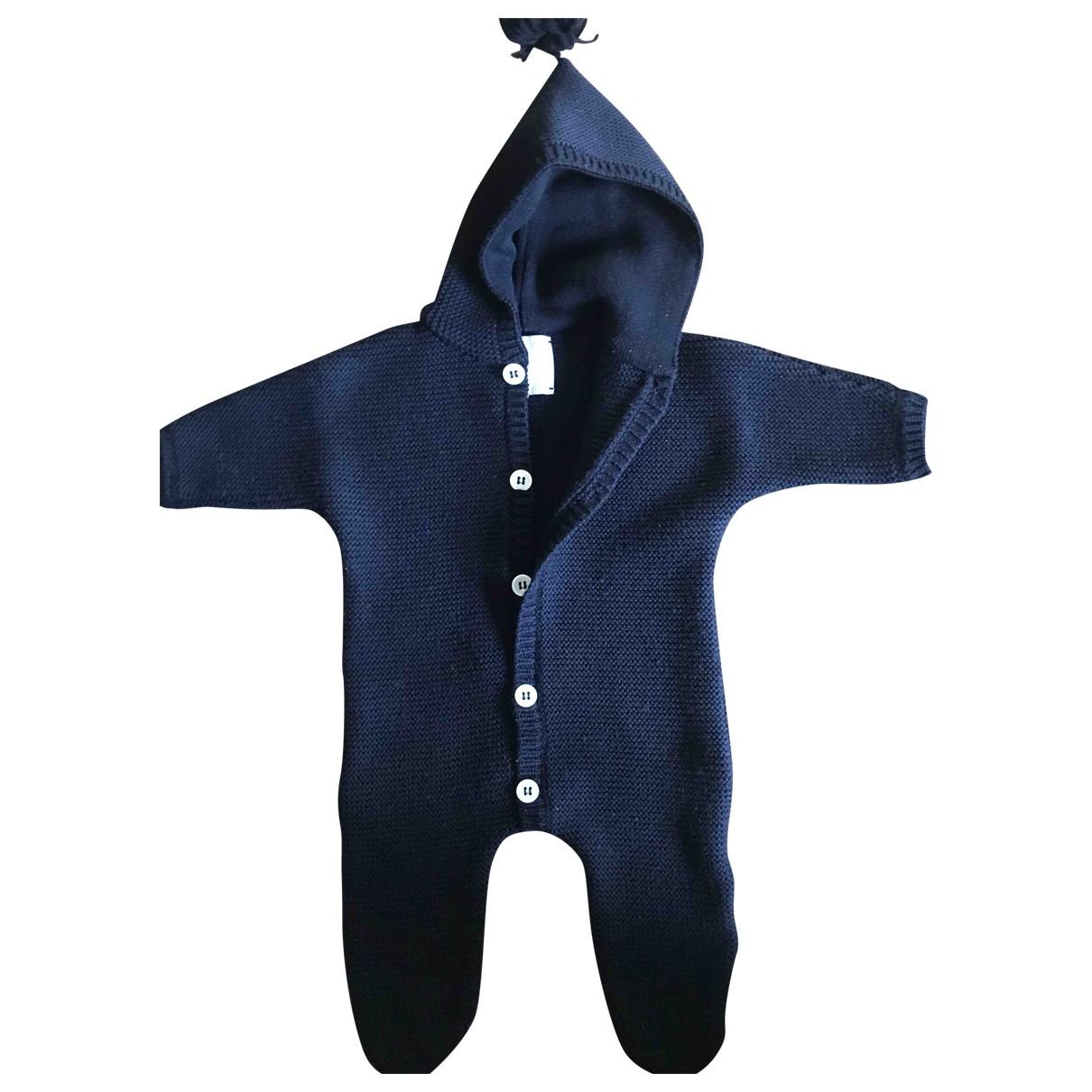 Molli - Blousons.Manteaux   pour enfant en laine - marine
