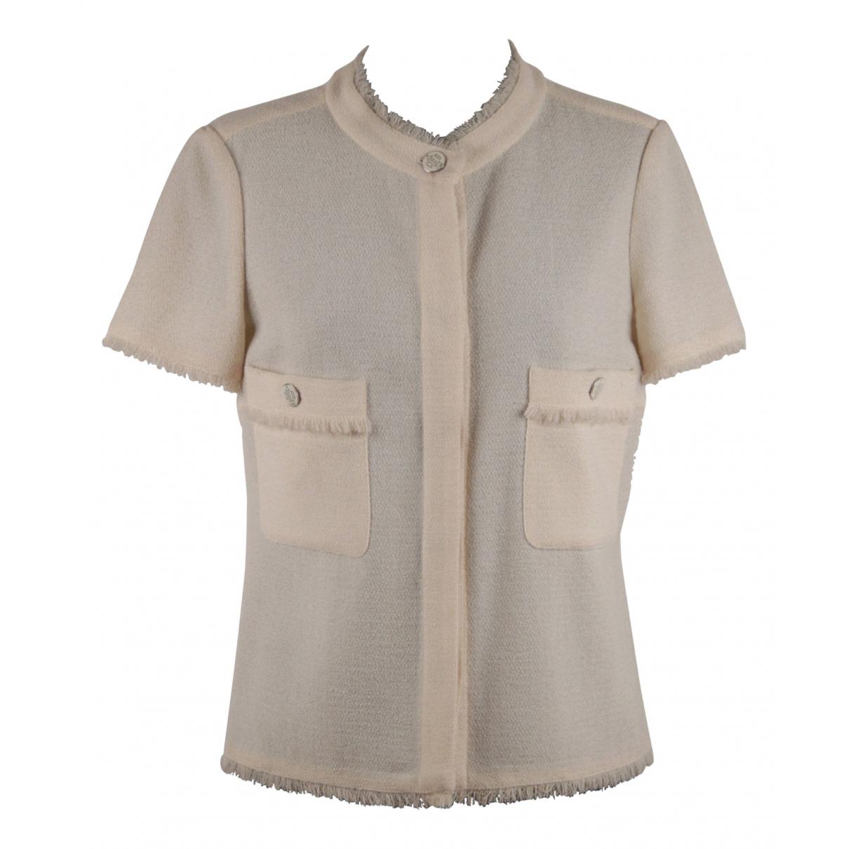 Chanel N Beige Wool jacket for Women 36 FR