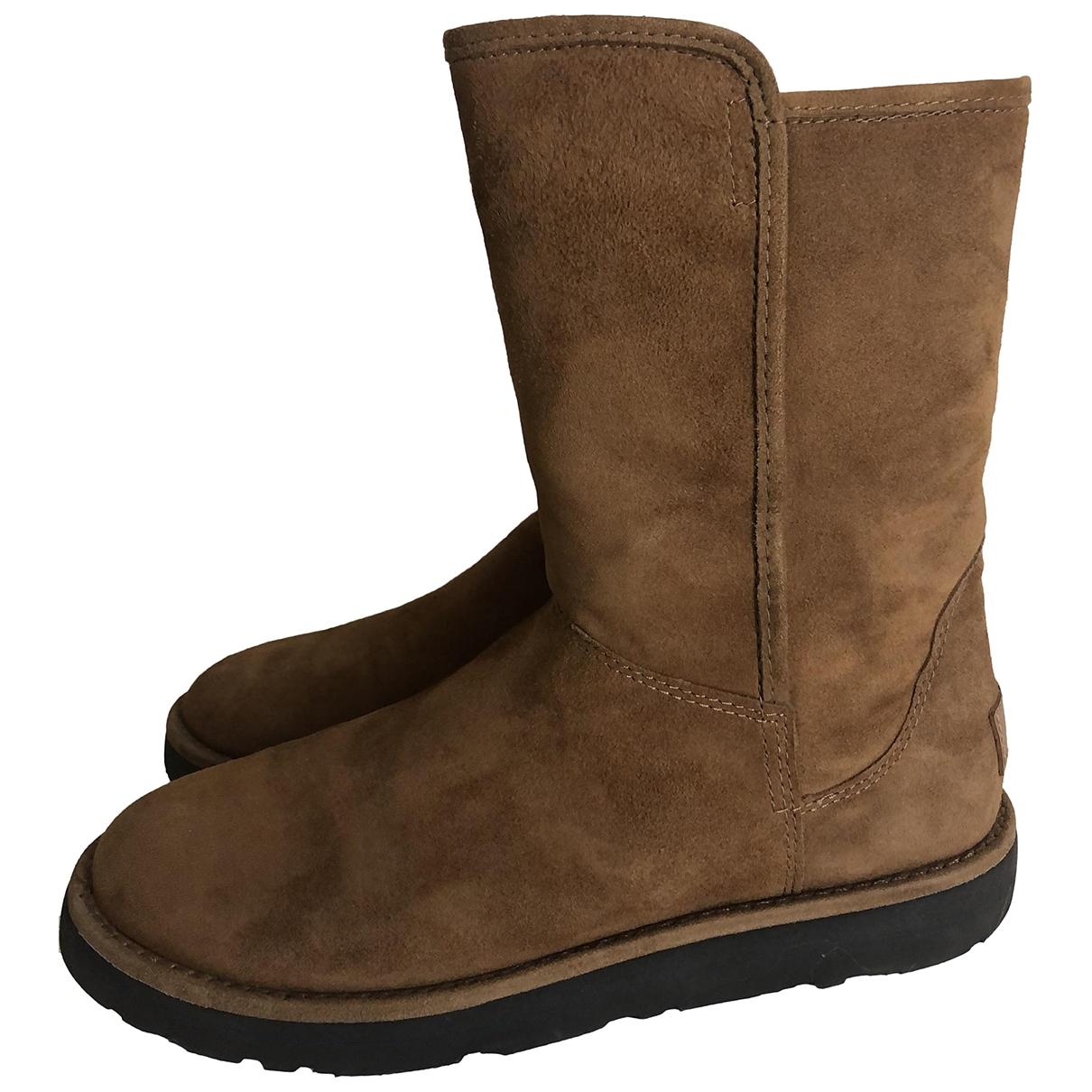 Ugg - Boots   pour femme en toile - marron