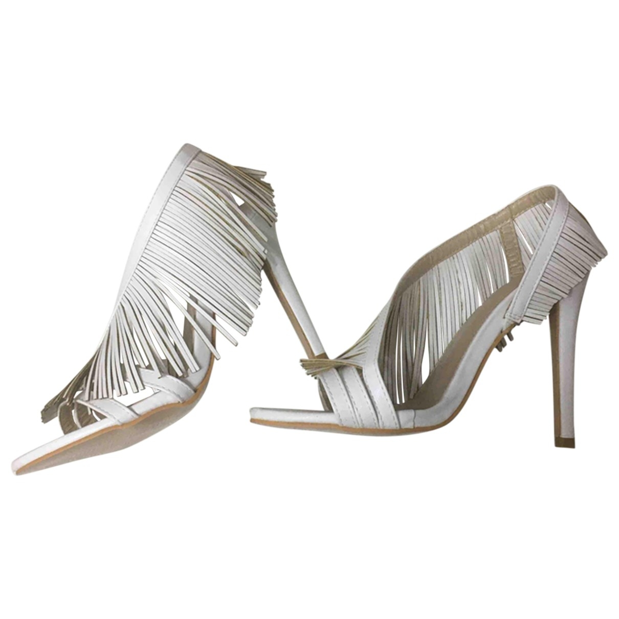 Non Signé / Unsigned \N White Sandals for Women 38 EU