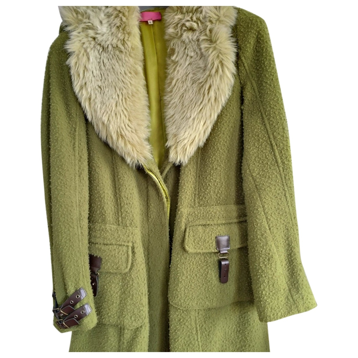 Non Signé / Unsigned \N Green Wool coat for Women S International