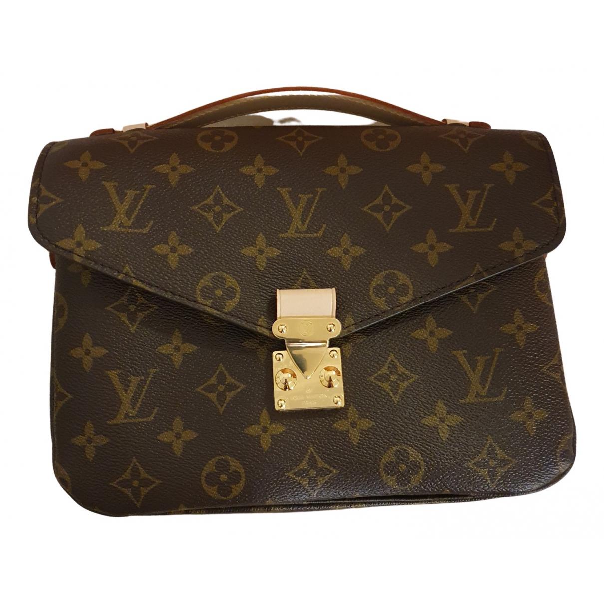 Louis Vuitton - Sac a main Metis pour femme - marron