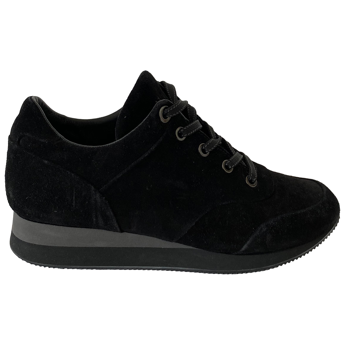 Max Mara - Baskets   pour femme en suede - noir