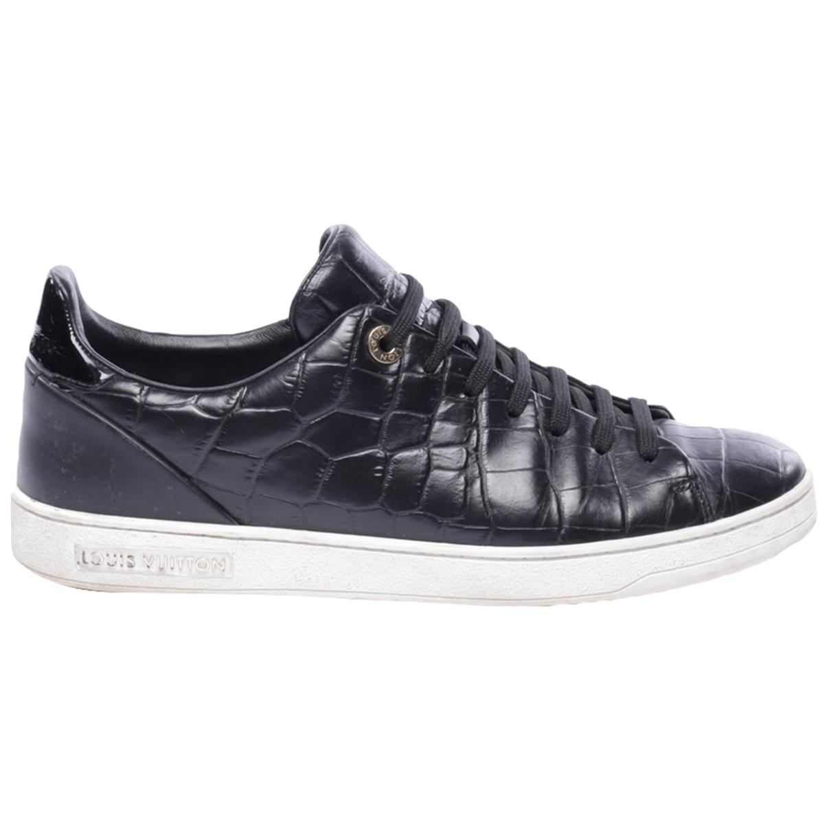 Louis Vuitton \N Mokassins in  Schwarz Leder