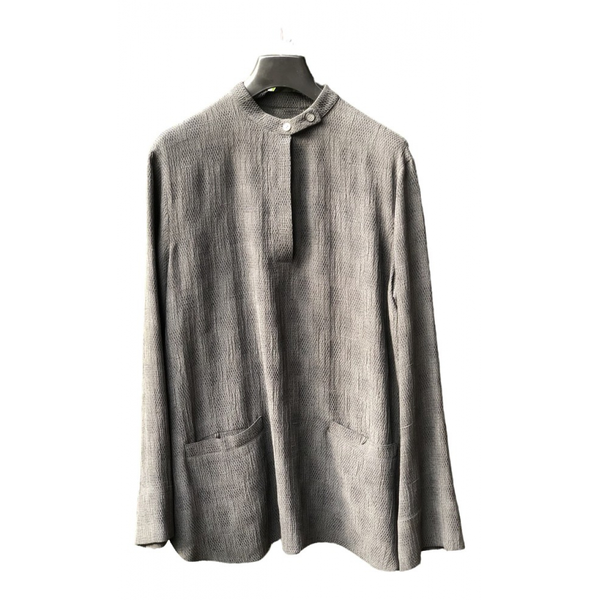 Giorgio Armani \N Grey Silk  top for Women 38 IT