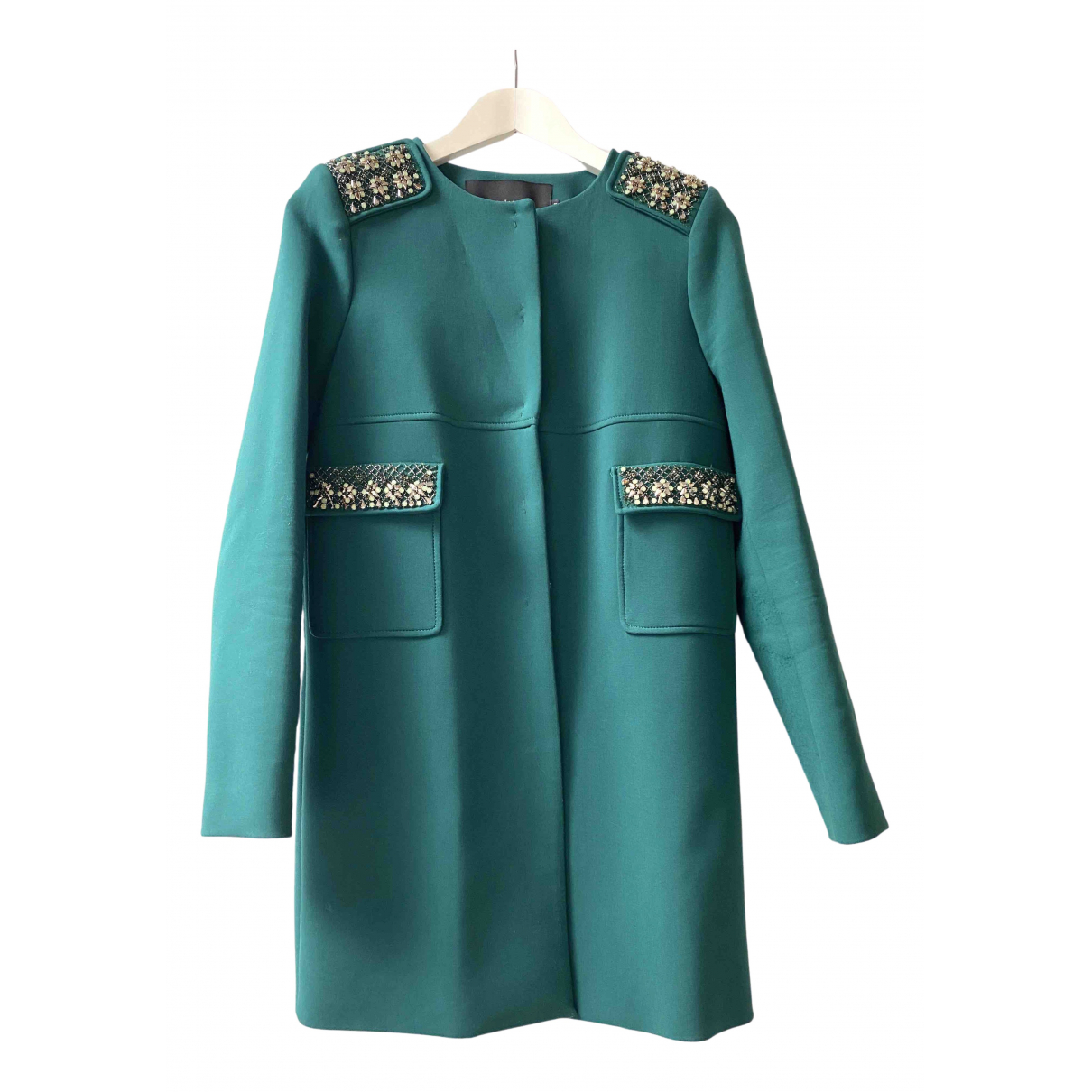 Tara Jarmon \N Green coat for Women 38 FR