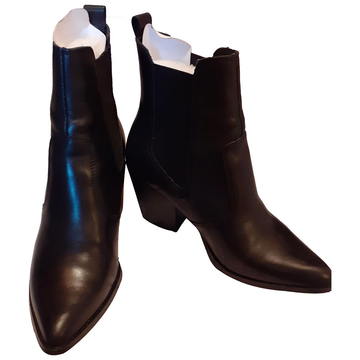 Steve Madden - Boots   pour femme en cuir - noir