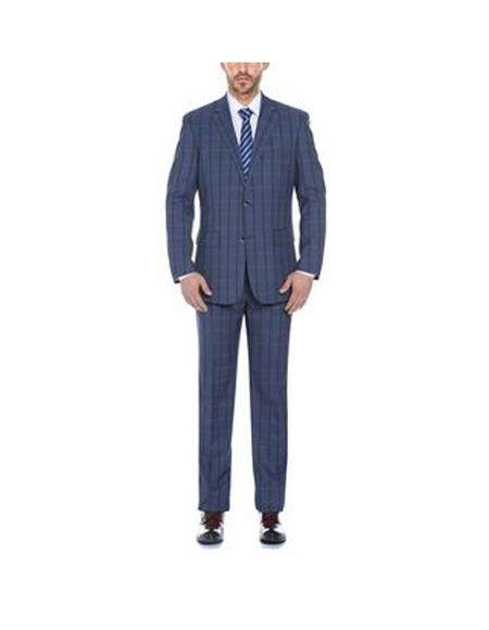 Notch Lapels Single breasted Mixture Color Classic Fit Suit