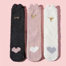 3 pares calcetines de niñitas con dibujos animados