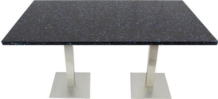 Q409 24X30-SS05-17H 24x30 Blue Galaxy Quartz Tabletop with 17