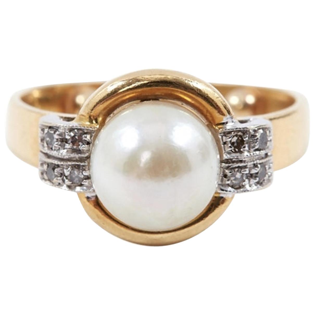 - Bague   pour femme en perle - blanc