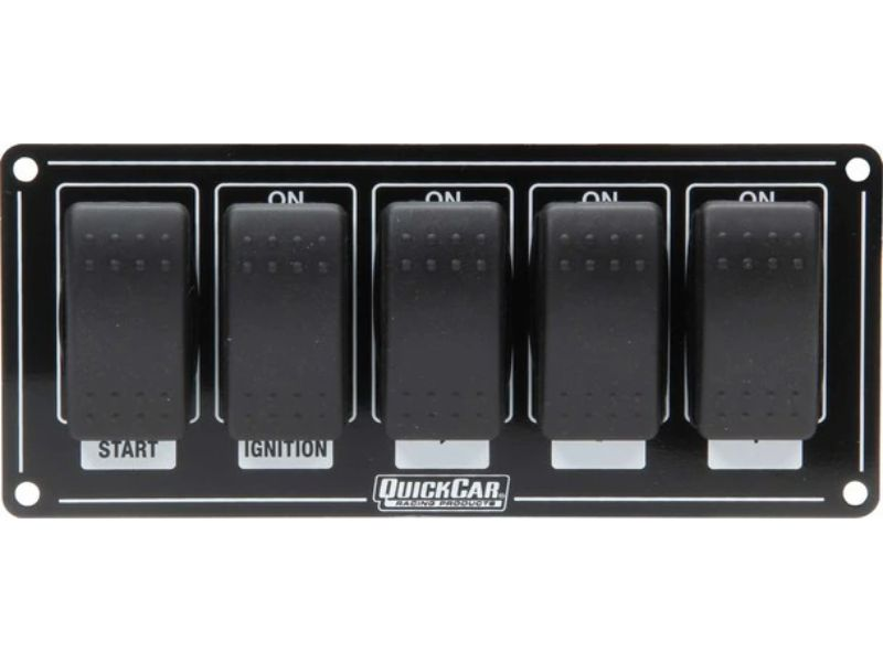 Quickcar Racing Products Rocker Switches with Black Plate