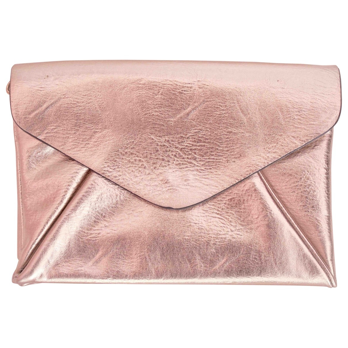 Zara \N Clutch in  Gold Leder
