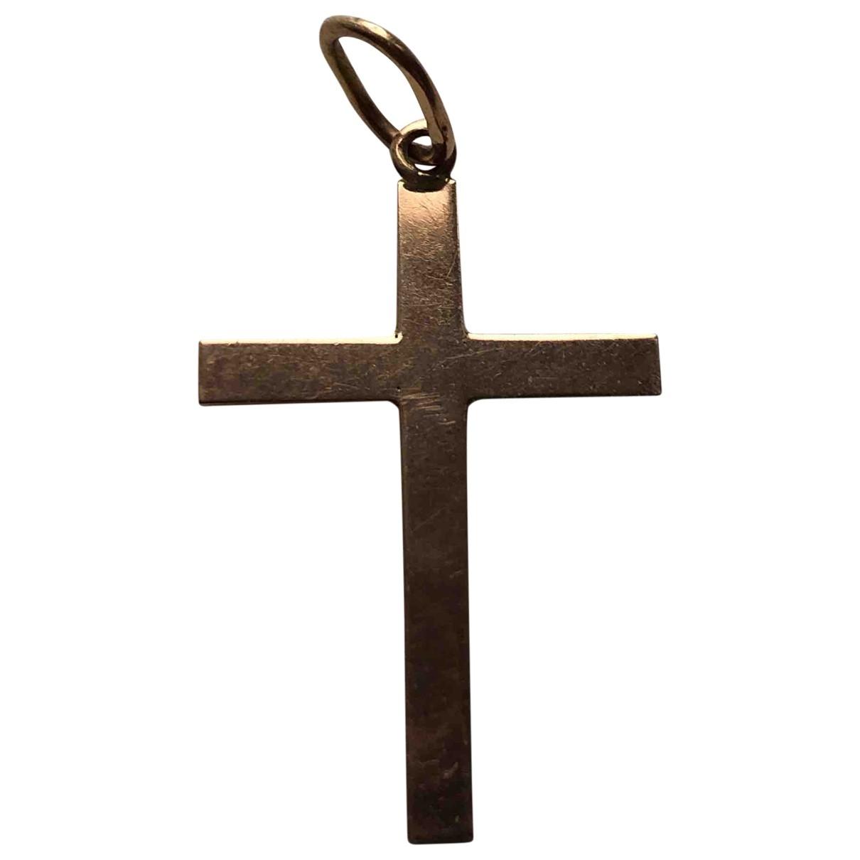 Colgante Croix de Oro rosa Non Signe / Unsigned