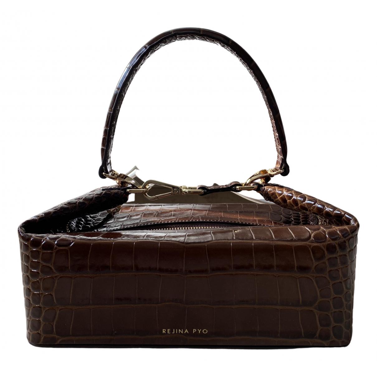 Rejina Pyo \N Handtasche in  Braun Leder