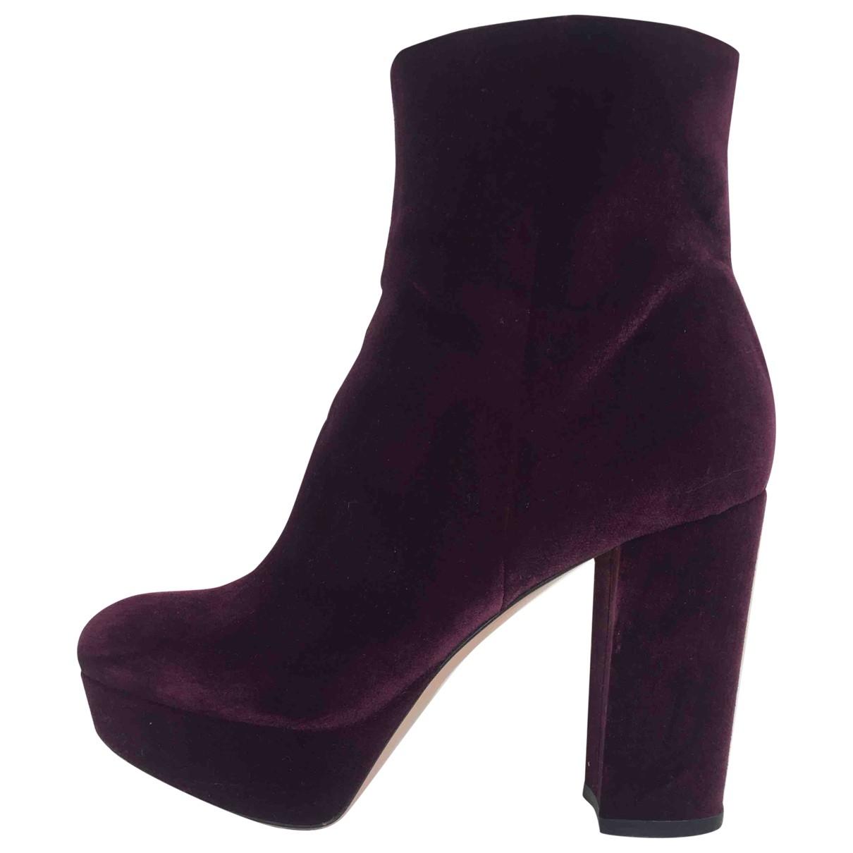 Gianvito Rossi - Bottes   pour femme en velours - violet