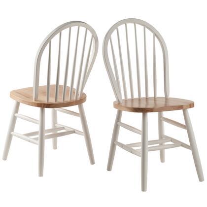 53836 Windsor Chair 2-PC Set RTA White &